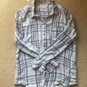 Hollister Button Down Plaid Long Sleeve